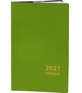 Pocket diary fortnightly PVC - green 2021