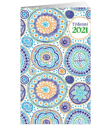 Pocket diary fortnightly lamino - Mandaly 2021