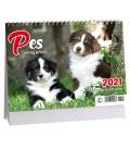 Table calendar Pes /s psími jmény/ 2021