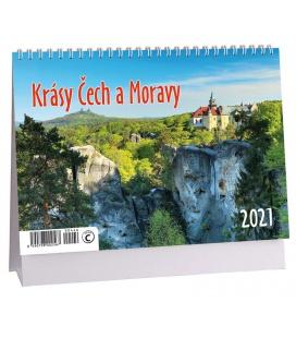 Table calendar Krásy Čech a Moravy 2021