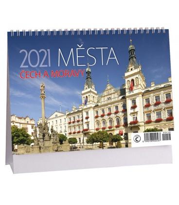 Table calendar Města Čech a Moravy 2021