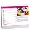 Table calendar Fit recepty 2021