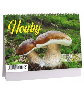Table calendar Houby 2021