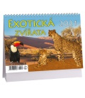 Table calendar Exotická zvířata 2021