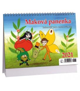 Table calendar Maková panenka  - omalovánkový 2021