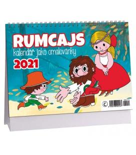 Table calendar Rumcajs  - omalovánkový 2021