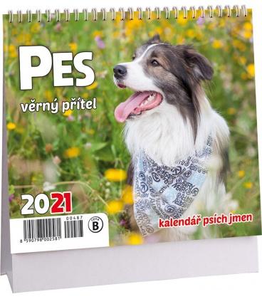 Table calendar Pes - věrný přítel mini /s psími jmény/ 2021
