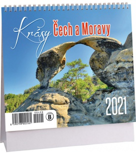 Table calendar Krásy Čech a Moravy mini 2021