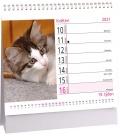 Table calendar Kočky mini /s kočičími jmény/ 2021
