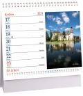 Table calendar Hrady a zámky mini 2021