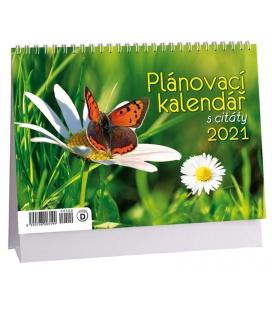 Table calendar Plánovací s citáty - Motýl 2021