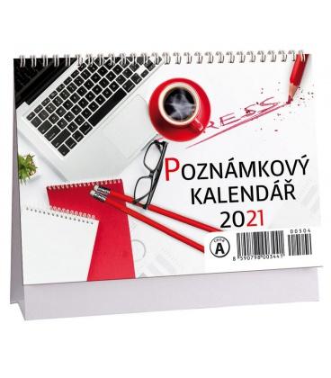 Table calendar Poznámkový mikro 2021