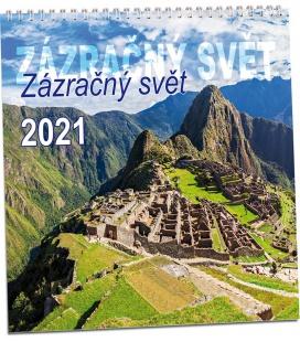 Wall calendar Zázračný svět 2021