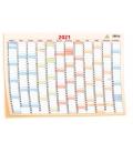 Wall calendar Yearly planing map / Plakát mapový 69 x 47,5 cm 2021