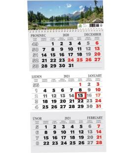 Wall calendar 3 monthly / Tříměsíční s okénkem 2021