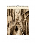 Wall calendar Venezia (motive on the wooden material) 2021