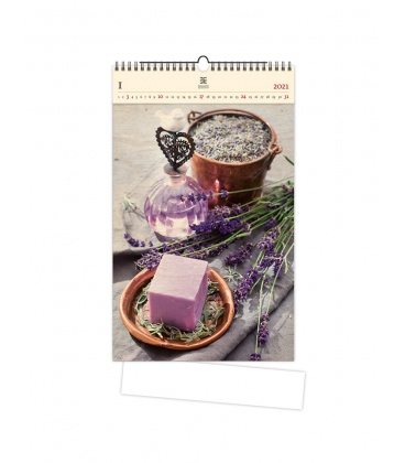 Wall calendar Provence (motive on the wooden material) 2021