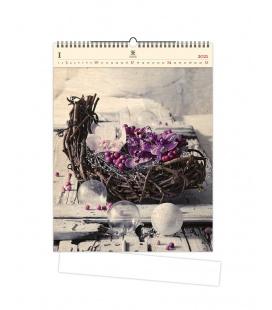 Wall calendar Design (motive on the wooden material) 2021