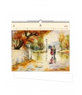 Wall calendar Romance (motive on the wooden material) 2021