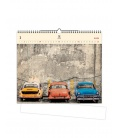 Wall calendar Cars (motive on the wooden material) 2021