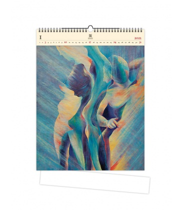Wall calendar Women II (motive on the wooden material) 2021