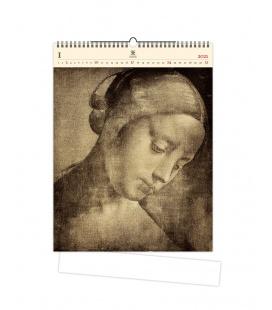 Wall calendar Da Vinci (motive on the wooden material) 2021