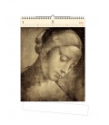 Wall calendar Da Vinci (motive on the wooden material) 2021
