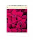 Wall calendar Leaves (motive on the wooden material) 2021