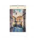 Wall calendar Aquarelle (motive on the wooden material) 2021