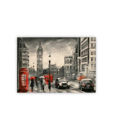 Wall calendar - Wooden picture - London 2021