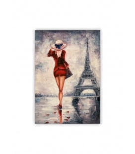 Wall calendar - Wooden picture - Paris 2021