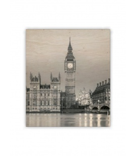 Wall calendar - Wooden picture - Big Ben 2021