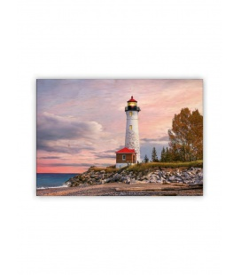 Wall calendar - Wooden picture - Lighthouse 2021