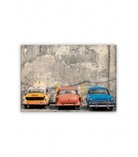 Wall calendar - Wooden picture - Cars 2021