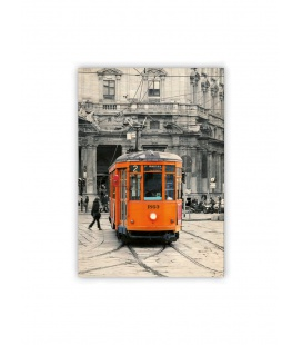 Wall calendar - Wooden picture - Tram 2021