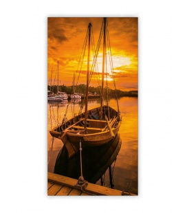 Wall calendar - Wooden picture - Sunset 2021