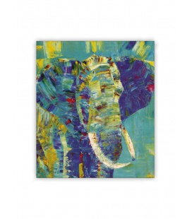 Wall calendar - Wooden picture - Elephant 2021