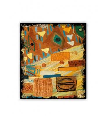 Wall calendar - Wooden picture - Graffiti 2021