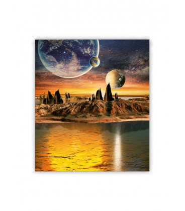 Wall calendar - Wooden picture - Cosmic 2021