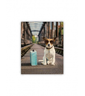 Wall calendar - Wooden picture - Dog 2021