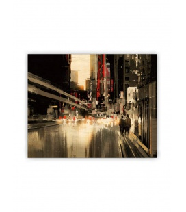 Wall calendar - Wooden picture - City 2021