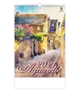 Wall calendar Aquarelle 2021