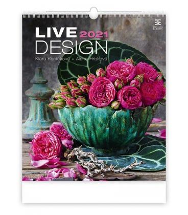 Wall calendar Live Design 2021