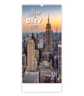 Wall calendar Above the City 2021
