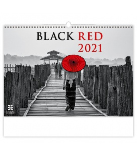 Wall calendar Black Red 2021