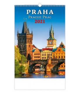 Wall calendar Praha/Prague/Prag 2021