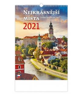 Wall calendar Nejkrásnější místa ČR 2021