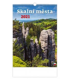 Wall calendar Skalní města 2021