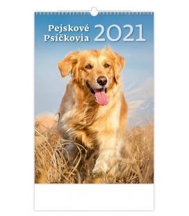 Wall calendar Pejskové/Psíčkovia 2021