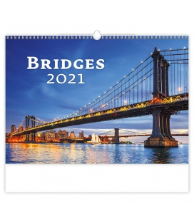 Wall calendar Bridges 2021